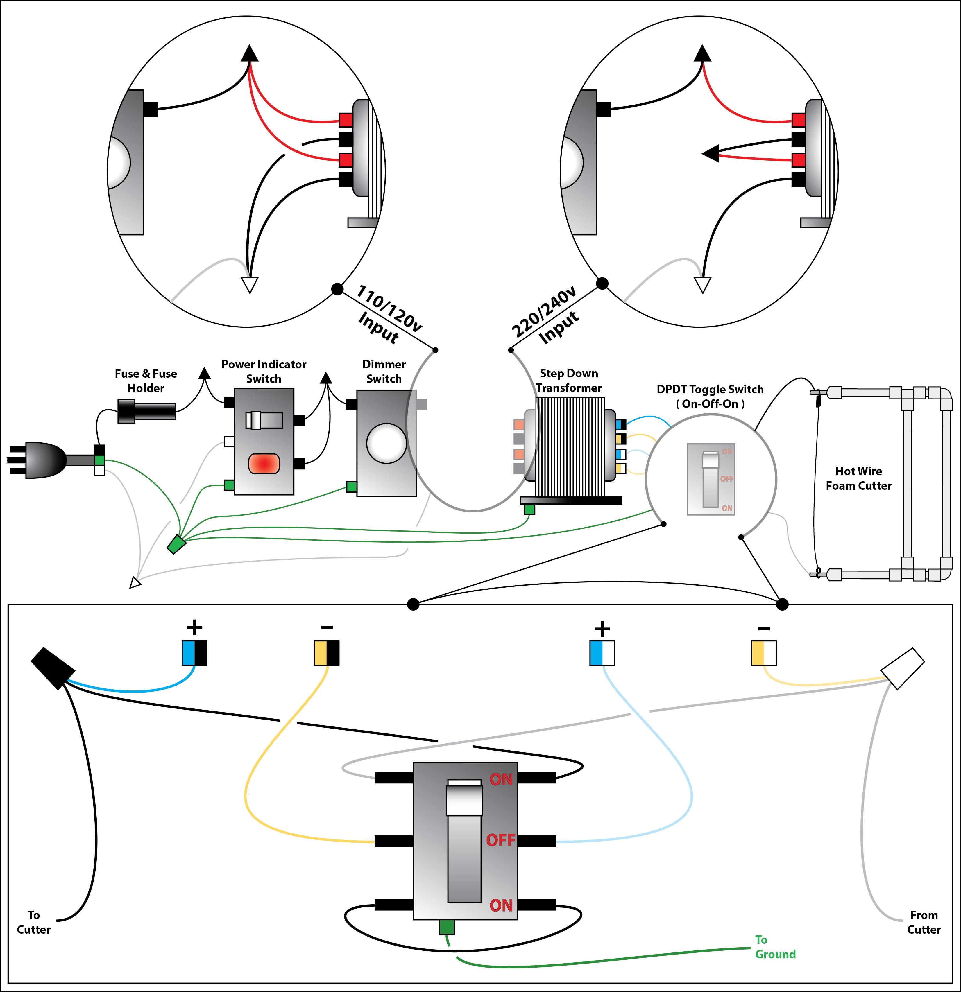 DIYPSDesign - Wiring diagram doorbell transformer